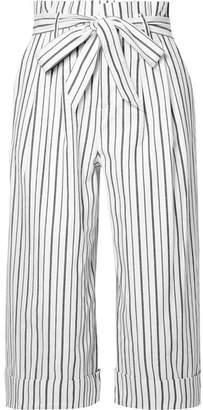 Alice + Olivia Ryan Striped Stretch-cotton Culottes