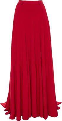 Brandon Maxwell Ribbed Godet Ball Skirt