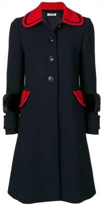 Miu Miu coat with mink fur cuffs
