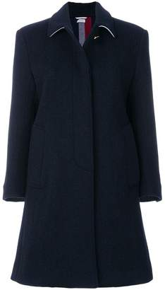 Thom Browne Unlined Stripe Wool Overcoat