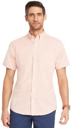 Izod Men's Advantage Cool FX Regular-Fit Plaid Moisture-Wicking Button-Down Shirt