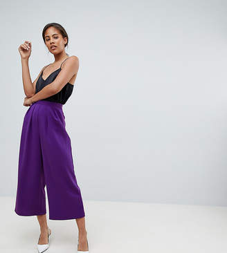 Asos Tall DESIGN Tall tailored large pleat culottes