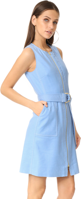 Diane von Furstenberg Sleeveless Zip Front Dress $398 thestylecure.com