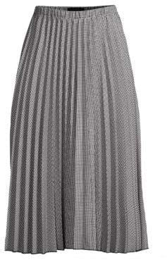 Donna Karan Pleated A-Line Skirt