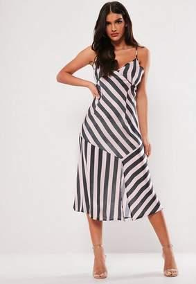 bb08cdca4b Missguided Petite Pink Stripe Satin Cami Maxi Dress