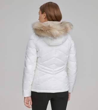 Andrew Marc MALLORY CHEVRON QUILTED DOWN COAT