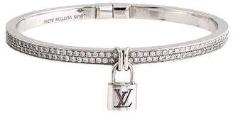Louis Vuitton 18K Diamond Lockit Bracelet