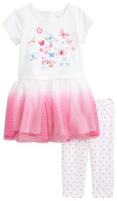 Little Me Butterfly Dress & Leggings Set