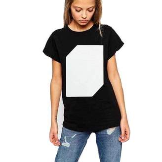 284d43de Melcom Half Sleeves Cotton Interactive Glow in Dark T Shirt for Women