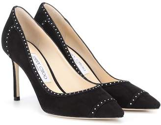 Jimmy Choo Romy 85 studded suede pumps