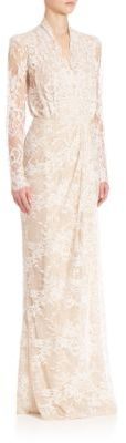 Alexander McQueen Floor Sweeping Lace Gown $6,995 thestylecure.com