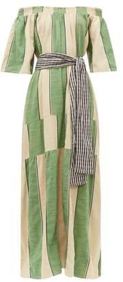 Ace&Jig Casa Striped Cotton Chambray Maxi Dress - Womens - Green
