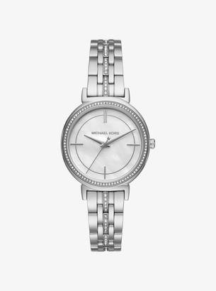 Michael Kors Cinthia Pave Silver-Tone Watch