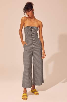 Solid & Striped Solid Striped Strapless Jumpsuit