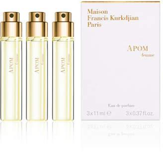 Francis Kurkdjian APOM femme Eau de Parfum Spray Refills, 3 x 0.37 oz.