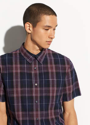 Plaid Linen Short Sleeve