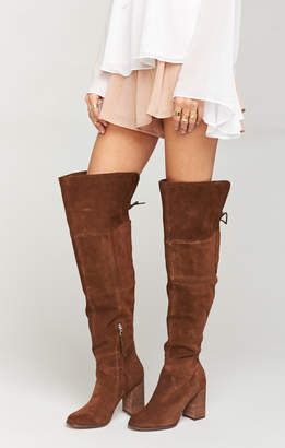 Show Me Your Mumu Steve Madden ~ Novela High Boots Tan ~ Suede
