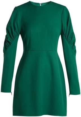 Tibi Florence gathered-sleeve mini dress