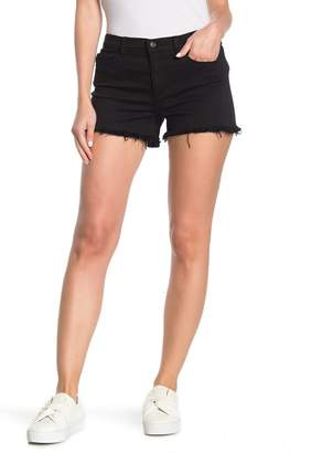 SP Black Mid Rise Raw Hem Shorts