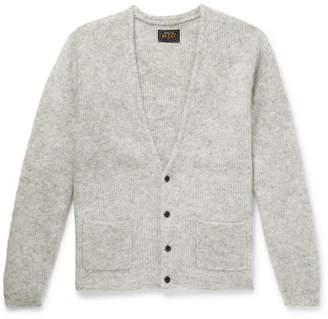 Beams Ribbed Mélange Mohair-Blend Cardigan