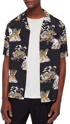 AllSaints Kirshma Slim Fit Camp Shirt