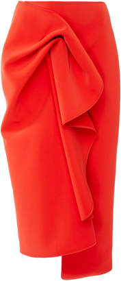 Acler Crawford Gathered Crepe Midi Skirt