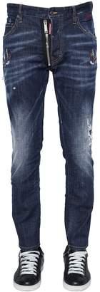 DSQUARED2 16cm Skater Tattoo Birds Denim Jeans