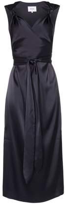 Nanushka Shanti satin knotted strap dress
