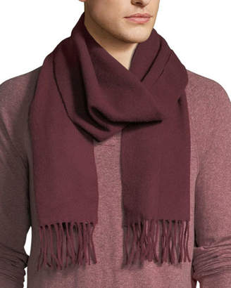 Eton Men's Solid Cashmere Scarf, Burgundy Red