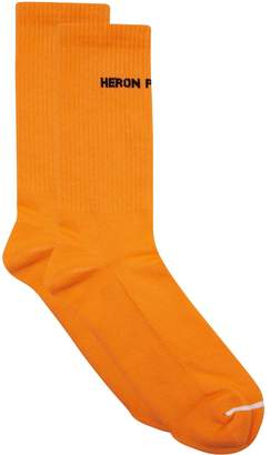 Heron Preston Ribbed Logo Socks