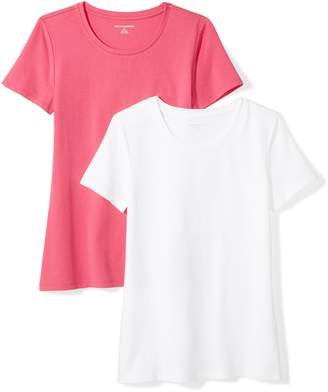 Amazon Essentials Women's 2-Pack Short-Sleeve Crewneck Solid T-Shirt