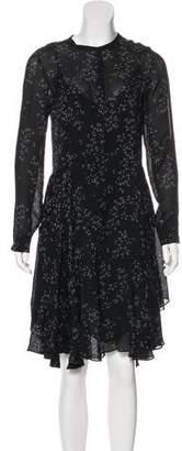 A.L.C. Printed Long Sleeve Dress