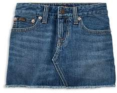 Ralph Lauren Girls' Denim Skirt - Little Kid