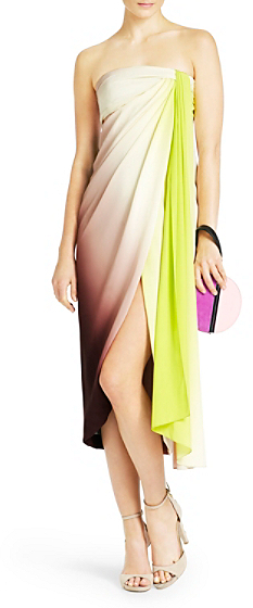 Diane von Furstenberg Sierra Ombre Strapless Dress In Ombre