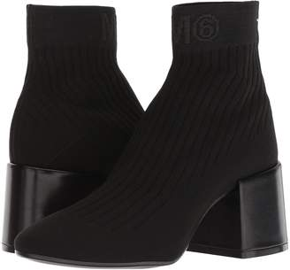 MM6 MAISON MARGIELA Logo Sock Bootie Women's Boots