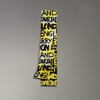 Burberry Graffiti Cotton Jacquard Scarf