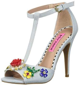 Betsey Johnson Women's Lenox Heeled Sandal