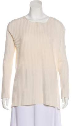 The Row Long Sleeve Scoop Neck Sweater