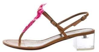Lanvin Bow T-Strap Sandals
