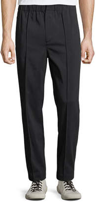 Alexander Wang Men's Cotton Trousers with Washable Leather Trim