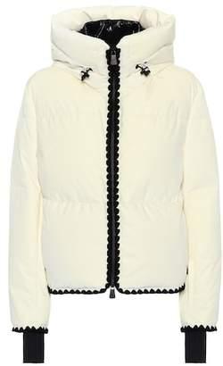 Moncler Emet velvet down ski jacket