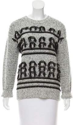 Current/Elliott Fringe-Trimmed Wool Sweater w/ Tags