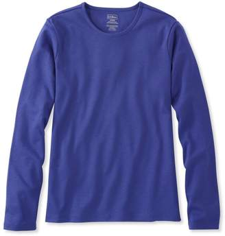L.L. Bean L.L.Bean Pima Cotton Tee, Long-Sleeve Crewneck