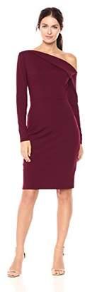 Susana Monaco Women's Leila One Shoulded Long Sleeve Dress