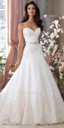 David Tutera for Mon Cheri Bridal Nastia $1,663 thestylecure.com