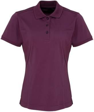 Premier Womens/Ladies Coolchecker Short Sleeve Pique Polo T-Shirt (S)