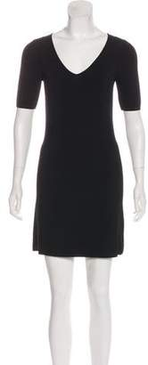 Theyskens' Theory V-Neck Short Sleeve Dress
