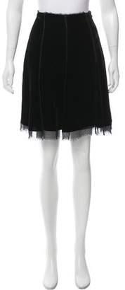 Vivienne Tam Velvet Mini Skirt