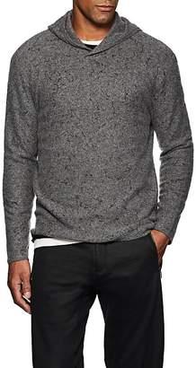 John Varvatos Men's Paint-Splatter-Detailed Wool-Cashmere Hoodie