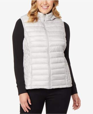 416215cd47e 32 Degrees Plus Size Hooded Packable Down Vest